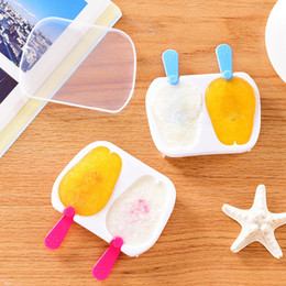 Wholesale Chocolate Rabbit Cartoon - 2 In 1 Cartoon Rabbit Popsicle Mould With Cover DIY Ice Cream Mold Jelly Mold Chocolate Mold Candy Mould High Quality Plastic