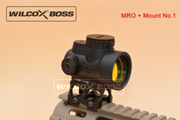 Wholesale Holographic Dot - New Trijicon MRO Style Red Dot Sight Holographic Sight Airsoft Low Mount + Mount No.1