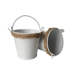 Wholesale Decoration Metal Flower Pot - Free shipping Plant Flower Pot D5.8*H5.4CM Metal Favor Pail tin bucket for wedding decoration