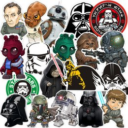 Wholesale Phone Box Sticker - Star Wars Stickers Waterproof Wall Decals Mobile Phone Modeling Sticker Skateboard Notebook Boot Paster Design Sense Hot Sale 7 5xq A R