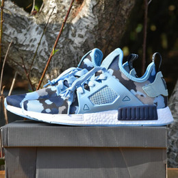 Wholesale Womens Discount Basketball Shoes - [With Box] NMD XR1 Men & Womens 2017 Top Quality Glitch Black White Blue Camo Pack Ultra Boost Discount Running Sports Shoes