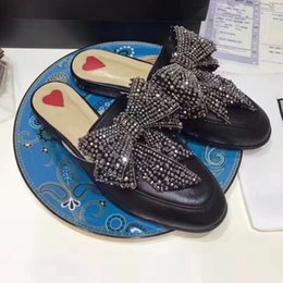 Wholesale High End Women Shoes - Fashion Genuine leather casual shoes qualityslippers Have a lot of personality The black color is high-end