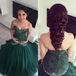 Wholesale Dress For Party Reception - 2017 Arabic Hunter Green Lace Mermaid Prom Party Dresses Sweetheart Beaded Vestidos De Novia Bridal Reception Evening Gowns For Arabic Women