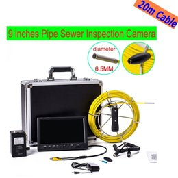 "Wholesale Sewer Drain Video Inspection Camera - free shipping WP91 20M Drain Pipe Inspection camera system 9""LCD Screen Sewer Waterproof Video Camera DVR underwater snake endoscope ann"
