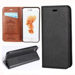 Wholesale Iphone Case Sheepskin - Luxury Sheepskin Style PU Leather Magnet Flip Case For iPhone 6S 7 Plus Unique Magnet Design Wallet Case Cover
