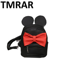 Wholesale Ladies Stylish Bags Wholesale - Wholesale- New women miky bow design women backpacks lady shoulder bags chic and cute prefall stylish girls hand bags hot selling M1944