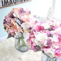Commercio all'ingrosso decorazione di nozze fabbricazione di fiori di simulazione per il dipartimento coreano Hydrangea decorazione della casa artigianato fiori finti da