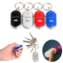 Wholesale Led Light Whistles - 100pcs Easy Sound Control Locator Lost Key Finder with Flashing LED Light Key Chain Keychain Keys Finding Whistle 0001