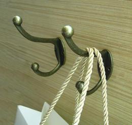 Percheros vintage online-Hot 100 * 45 * 23 cm Vintage Bronze Wall Hook Coat Bag Hat Hanger Robe Hooks Ganchos de pared Gancho de la cocina Inicio Puerta de la pared titular
