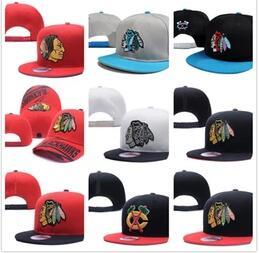 Wholesale Team Logo Baseball Hats - Newest Wholesales Chicago Blackhawks Baseball Snapbacks Baseball Cap Embroidered Team logo Fitted Cap bone Sport Fit Hats Adjustable Caps