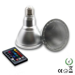 Wholesale Spotlight Stage Lighting Wholesale - Par30 10W LED RGB Magic E27 Lamp Light Bulb Color Changing Spotlight AC 85-265V With 24Key Remote Control RGB Bulb LED Stage Lights