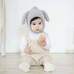Wholesale Baby Boy Rompers Winter Piece - 2017 children baby Rompers Autumn winter style with pure cotton to protect his pants can open fork conjoined baby climb clothes