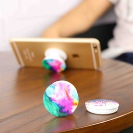 Wholesale Wholesale Sale Real - 2017 hot sale Fashion retractable Mobile Phone Ipad Holder printed pattern and Mounts Real 3M Glue support