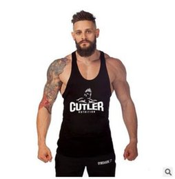 Wholesale Sexy Equipment - Wholesale- 2016 New Brand Mens Singlets Cotton Tank Tops Stringer Bodybuilding Equipment Fitness Men's Clothing Clothes