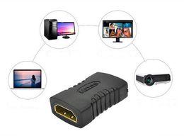 Wholesale Hdmi Mini Adapter Plug - Best Price HDMI Female to Female Converter Adapter Black Mini Plated Plug Converter Connector 300PCS UP