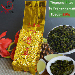 Wholesale Good Shipping - [Mcgretea]GOOD 2017 New 250g China Authentic Green Tea,Chinese Anxi Tieguanyin Oolong Tea, Natural Organic Health Free Shipping