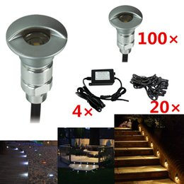 Wholesale Outdoor Lighing Lamp - Wholesale- **DHL free** 100pc Lots Aluminum Modern Led Lamp Outdoor Lighing DC12V 0.6W Colorful Grondspots(include all Drivers and Cables)