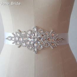 Wholesale Crystal Wedding Belts - Real Photo Free Shipping Custom Made Exquisite Heavy Beading Rhinestone Crystals Wedding Belt For Bridal Wedding Accessory Wedding Sashes