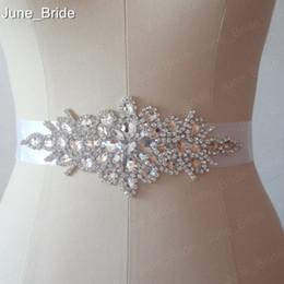 Wholesale Rhinestone Beaded Bridal Belts - Real Photo Free Shipping Custom Made Exquisite Heavy Beading Rhinestone Crystals Wedding Belt For Bridal Wedding Accessory Wedding Sashes