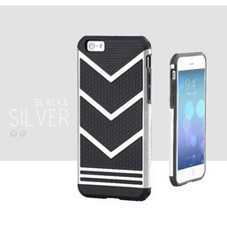 Wholesale Water Wave Plastic - Wave Hybrid Defender Armor Case high quality 2in1 V shape shockproof for iPhone6S 6Plus 7 7Plus