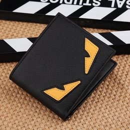 Wholesale Most Cards - Most popular cute monster purse in wholesale small monster wallet short style of students small cartoon wallet cross-section wallet young