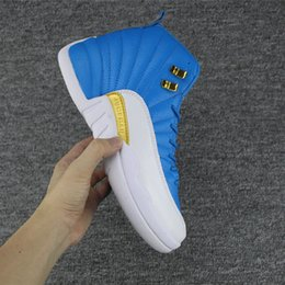 Wholesale Snakeskin Pcs - New men Retro 12 GS Hyper Youth blue Valentines Day 12s Plum Fog Flu Game Basketball Shoes Taxi Sneakers High Quality 41-47