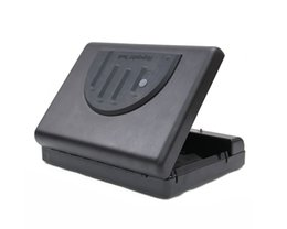 Wholesale Gun Safes Fingerprint - Wholesale- Free Shipping 500SDT Pistol jewelry safe Portable Biometric Fingerprint Gun Pistol Safe Handgun Safe Box Security Box
