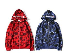 Wholesale New Cotton Camo Jacket - New designer Men's Fleece Jacket Brand Designer Sweatshirts Hoodies Full Zipper Camouflage Army Military Sweater Men Camo Caucal Sport