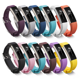 Wholesale purple metal watch - New Fitbit Alta HR Band 12 Pack Classic Colors With Metal Clasp Replacement Band for Fitbit Alta Smart Fitness Tracker FC0047Z12