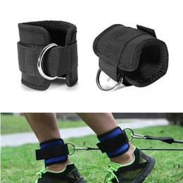 Wholesale Resistance Straps For Exercise - 1 Pair Resistance Band D -Ring Ankle Straps Workouts With Durable Cuffs For Ab ,Leg &Glute Exercises Home Gym Fitness Equipment