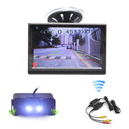 Wholesale Wireless Rear View Camera Waterproof - Wireless 5inch TFT LCD Display Car Monitor + Waterproof LED Night Vision Parking Radar Sensor Car Rear View Camera