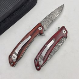 Wholesale Forged Tool Steel - New small fish forged Damascus high hardness outdoor knife travel portable knife fruit knife EDC tool