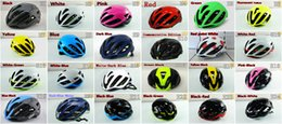 Wholesale Bicycle Helmet Orange Blue - 2017 top sale Good quality Ultra-light Bicycle Cycling helmet Size M(54-58cm) L(59-62cm) with 25 models design MTB helmet free shipping