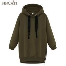 Wholesale Hoodie Lady Style Jacket - Wholesale- High Quality New Spring Women Lady Cotton Loose Hooded Jacket Thicken Velvet Long sleeve Sweatshirt Korean Style Hoodies 500g pc