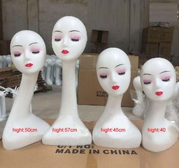Wholesale Window Shows - Plastic Long Neck Wig Display Mannequin Head Shop Window Model Show Shelf for Jewelry and Scarf Display