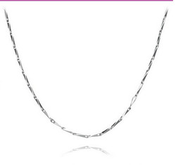 Wholesale Sterling Silver S925 Chains China - Burst section silver S925 sterling silver necklace melon chain men and women of the clavicle chain Korean version of jewelry
