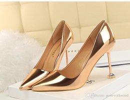 Wholesale Evening Woman Shoes - new arrival vintage fashion women Stiletto Heel bridal wedding shoes for party stiletto high heels for prom party evening