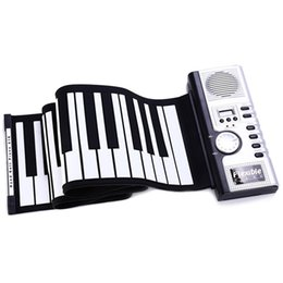 Wholesale Roll Up Piano Midi - 61 Keys Silicone Flexible Roll-Up Piano Roll Up Piano MIDI Electronic Keyboard Hand Roll Portable