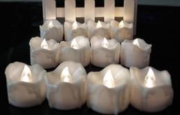 Canada Led Drop Tear Candle Tealight Light Lamp Flameless Emergency Noël Mariage Fête de l'anniversaire Décor Bougies Batterie Powered white favors Offre