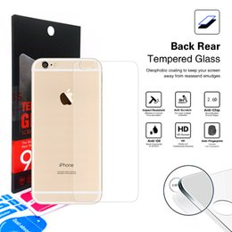 Wholesale Screen Guard Inch - Iphone SE 5S 5 6S 6 plus rear back 4.7 5.5 inch Tempered Glass Screen Protector Anti-Scratch Explosion Proof protector Film Guard