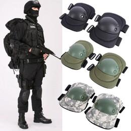 Cojines de codo tácticos online-4 piezas adulto táctico de combate conjunto de almohadilla protectora engranaje deportes militar rodillera codo protector codo rodilleras