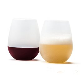 Wholesale Folding Wine Glass - Silicone Wine Glass Folding Cup Mugs Unbreakable Outdoor Rubber Beer Pool Bottle For Travel Camping Eco-Friendly BAP Free