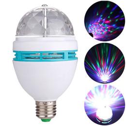 Wholesale Led Bulb Rgb Disco - Laser lights E27 3W AC90-250V Colorful Auto Rotating RGB LED Bulb Stage Light Disco DJ Party Lamp Holiday Bulb For Bar KTV Lighting