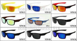 Wholesale Two Color Frame Glasses - brand new fashion men' s Bicycle Glass Outdoor Sport two face sunglasses Google Glasses mix color 10pcs lot.