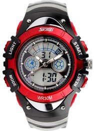 Wholesale Dual Time Boy Sports Watch - New Top Fashion Kids Digital Military Watches Summer Outdoor Sports Dual Time Boys Wristwatches Cheap Nice Army Classic Style Girls Gift