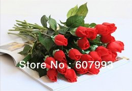 Wholesale Flower Arrangement Centerpieces - Real touch rose bud artificial flowers,wedding flower arrangement table centerpieces bridal bouquet,christmas decorative flowers
