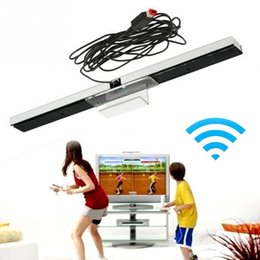 Wholesale Active Infrared - Wired Remote Motion Sensor Bar With USB Cable IR Infrared Ray Inductor for Nintendo Wii Console With retail package Free Shipping ..