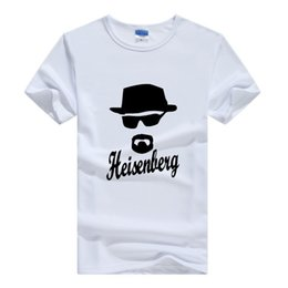 Wholesale Custom Made Cartoon Shirts - Breaking Bad T Shirt Gray Walter White Fashion Funny Cool Cartoon nodal Short Sleeve Custom Made Men T Shirt