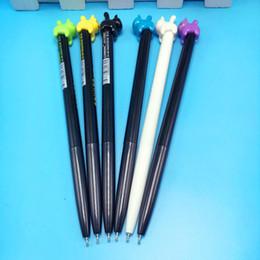 48 penne gel online-Forniture per la scrittura 48 Pz / lotto Simpatico cartone animato Kawaii Cat Star 0,5 mm Penna gel nera Scuola per studenti Scuola di cancelleria per ufficio Fornitore di scrittura
