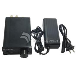 Wholesale Mini Stereo Amps - Freeshipping TPA3118 DC12V Aluminum Digital HIFI T-Amp Mini Stereo Amplifier Pro Audio Equipment with Power Supply